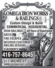 JOB OPENING for CUSTOM IRON RAILINGS FABRICATOR,  Artisan