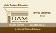 Finish Carpentry and General Contracting Services Available