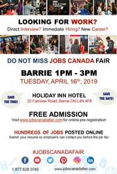 Barrie Job Fair - April 16th,  2019