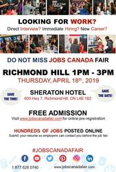 Richmond Hill Job Fair - April 18th,  2019