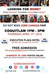 Coquitlam Job Fair - April 11th,  2019