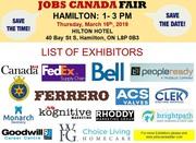 Hamilton Job Fair – May 16th,  2019