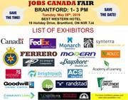 Brantford Job Fair – May 28th,  2019